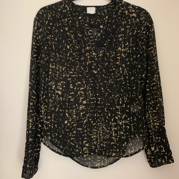 Converse Tops - Black Patterned Blouse